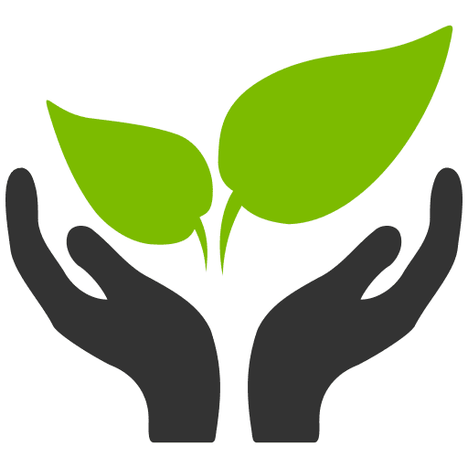 Hands with Leaves Icon