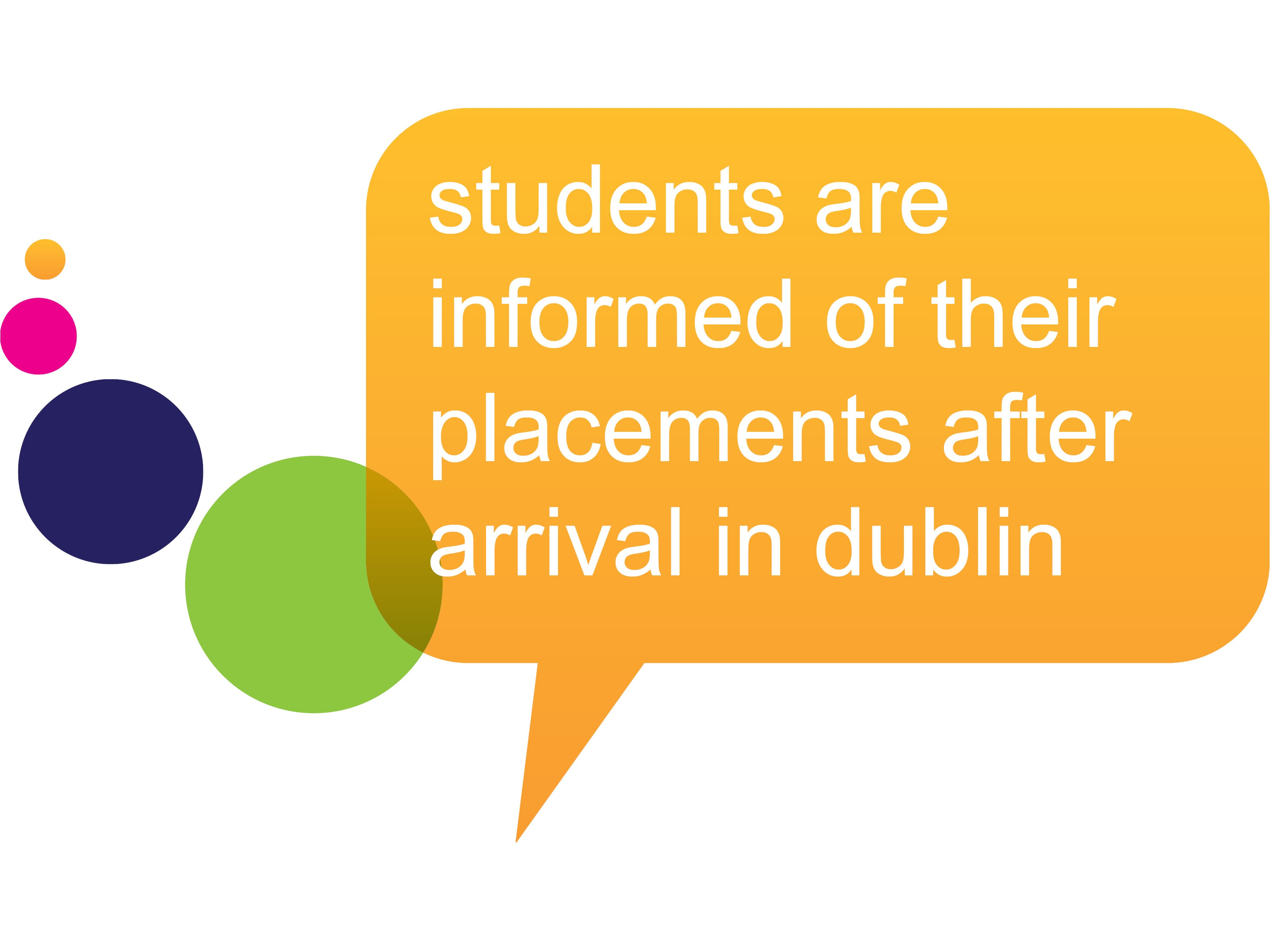 Placement Information Dublin