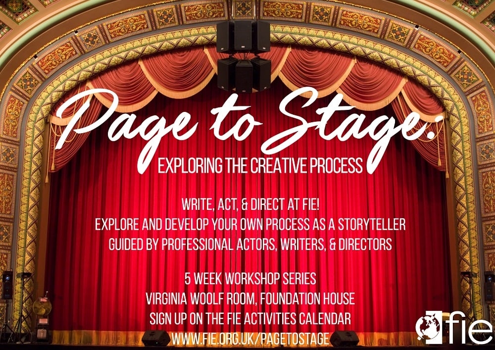 FIE Theatre Workshop A4 Poster Fall 2018