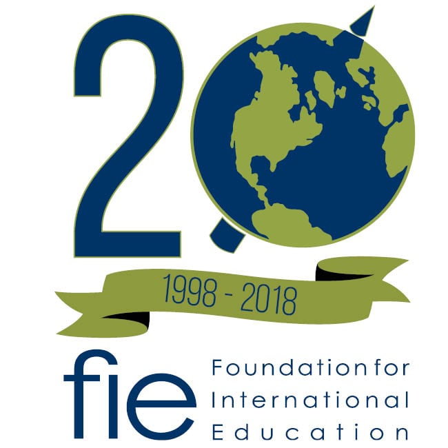 FIE Foundation for International Education 20th Anniversary Logo SQUARE