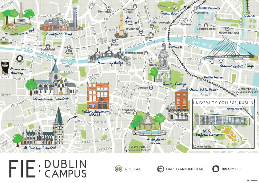 FIE Dublin Campus Map